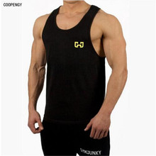 New logo for 15 people fitness organization man cotton sleeveless T-shirt vest vest beach leisure fitness men occasionally