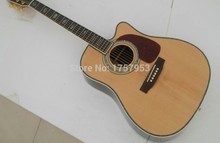 custom guitar factory 2017 new Top Quality Solid Spruce Top Rosewood Back & Sides D/45 Cut Away Acoustic guitarr In Stock