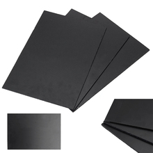 1Pc Black ABS Styrene Plastic Plate Durable ABS Plastic Flat Sheet 300mm x 200mm x 3mm