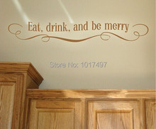 EAT DRINK & MERRY Vinyl wall stickers kitchen , Kitchen decal , wall stickers modern kitchen decor ,free shipping F2058