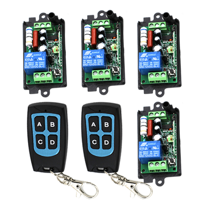 Free shipping 220V 110V Wireless Lamp Remote Control Switch 4 Receiver 2 Transmitter 3418<br>