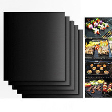 40*33cm BBQ GRILL MAT set of 2 sheets Reusable Non-stick Make Grilling Easy BBQ Mats Accessories