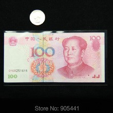 100pcs General Size Paper Money Protection Bag Currency Soft Sleeves 16CM*8.5CM Holders High Quality Free Shipping(China)