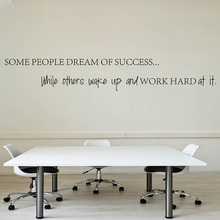 Wake Up Work Hard At Your Dreams Motivational Quotes Wall Sticker DIY Decorative Inspirational Quote Wall Decal Office Q153(China)