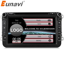 Eunavi 2 Din New Fashion Car DVD For VW GOLF POLO CADDY PASSAT B6 JETTA SKODA MK5 MK6 Tiguan Touran Caddy With GPS RADIO RDS MP3(China)