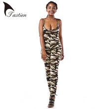 New Sleeveless Rompers Womens Jumpsuit Army Soldier Catsuit Camouflage Bodycon Jumpsuit Big Size Jumpsuits And Rompers Bodysuit