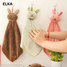 Free Shipping soft Lovely Cartoon Hand Towel Bathroom Kitchen Towels Dishes Pot Cleaning Cloth