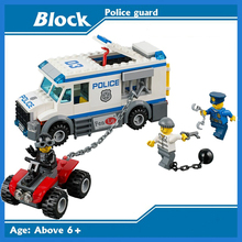 10418 City building brick Police Mobile Police Unit building blocks Action Figures Model toys for children(China)