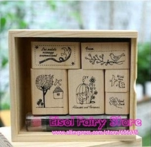 Lovely Bird Stamps, Cute Dairy / Greeting Card Decoration Stamp, DIY Wooden stamp set (3sets)