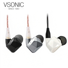 Vsonic GR09 HIFI In-ear Earphones Ceramics Interchangeable cable Dynamic Noise Isolation Earphone(China)