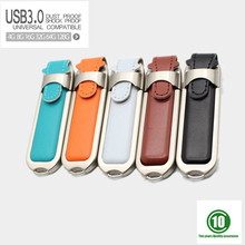 5 colors USB 3.0 Leather usb flash drive PC accessories Novelty USB Flash Drives 128GB 64GB 8G 16G 32GB Memory Sticks Pen Drives