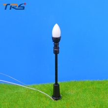 Warm White LED Lighting Single-Head Miniature Scale Model Lamp Model Lamppost