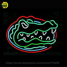 "Custom NEON SIGN signboard For NCAA College Basketball Florida Gators GLASS Tube BEER BAR PUB Club Shop Light Signs 16*13""(China)"