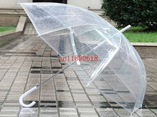 "20pcs/lot Free Shipping Wholesale 34"" Longth Clear Cute Bubble Deep Dome Umbrella Gossip Girl Wind Resistance(China)"