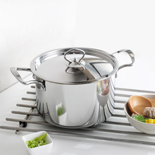 Stainless Steel Stockpot Cookware with Steel Lid Household Canning Pot Oven Safe Quality Stock Pot Total Nonstick Soup Pot(China)
