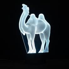Fancy 3D Camel Night Light LED Lamp with Touch Btton Lights for Holiday Special Gifts