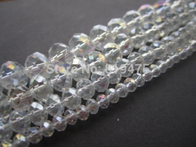 Crystal Bead Rondelle 4mm 6mm 8mm 10mm Clear AB Faceted Chinese Crystal Beads(China)
