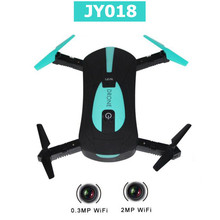 JY018 Selfie Drone remote controller Mini Foldable Quadcopter with FPV Wifi Camera professional dron rc helicopter(China)
