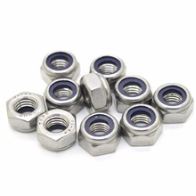 DIN985 M3 M4 M5 M6 M8 galvanized self-locking nut nylon lock nut locknut slip nut(China)