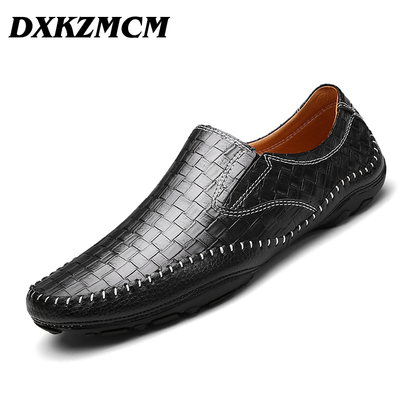 DXKZMCM Men Loafers Brand Genuine Leather Men Handmade shoes comfortable Top quality men casual shoes<br>
