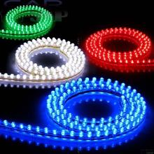 1PCS PVC 48CM 48LEDs Car 12V Waterproof Flexible LED Neon DRL Driving Strip Grille Light Show White Red Blue Light CD549(China)