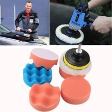 Waxing Buffing Polishing Sponge Pads for Car Clean 6Pcs 3inch Waffle Car Polisher Drill Adapter Dropshipping Sept1(China)