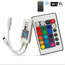 DC12V-24V RGB RGBW Wifi LED Remote Controller Android /IOS Mini + 24Key IR Remote control for SMD 5050 3528 LED Strip Light