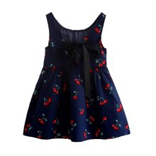 Newest Style Summer Baby Kid Cotton Vest Princess Girls Dress Newborn Infant Sundress Clothes(China)