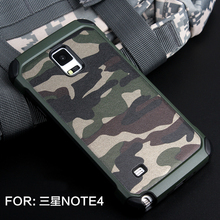 Camouflage Military Fan Cell phone case for Samsung Galaxy note4 case unbreak phone cover for samsung note5 case