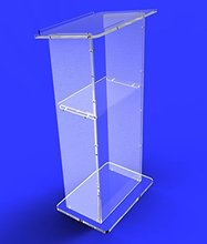"Fixture Displays Clear Acrylic Lucite Podium Pulpit Lectern 45"" Tall(China)"