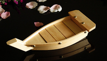33/38/43CM Simple Japanese Wooden Plate Sashimi Boat Serving Tray Japanese Restaurant Sushi Boat
