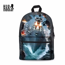 Backpack War Painting 3D Prints School Bags Boys and Girls Unisex Multi Compartment CasualTravel Suitcase Laptop Sac portable(China)