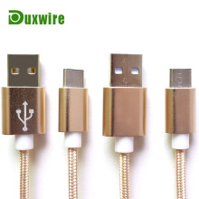 2016 Aluminum Nylon braided USB 2.0 Type C Charging Cable Type-C Cable For Nexus 5X 6P OnePlus 2 Two Lumia 950 950XL Xiao Mi 4c