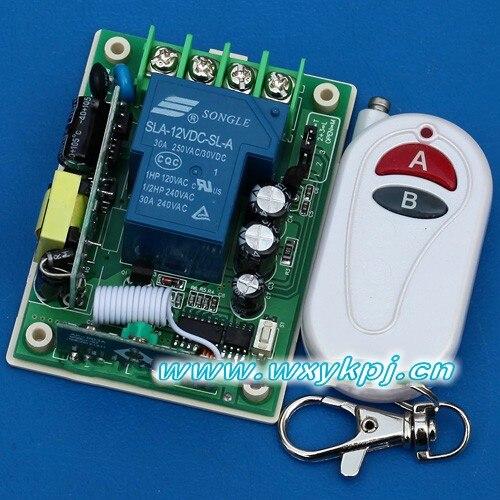 220v high voltage power wireless remote control switch white key remote control<br><br>Aliexpress