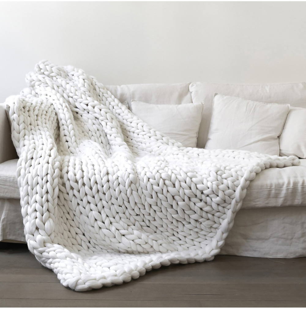 DIY Chunky Wool Yarn for Kniing Blanket Scarf Hat