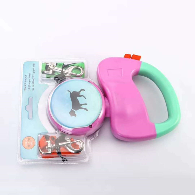 New Arrivals 2 Dog Retractable Leash up to 50 pounds per dog Leash Strong Lash for 2 Dogs08