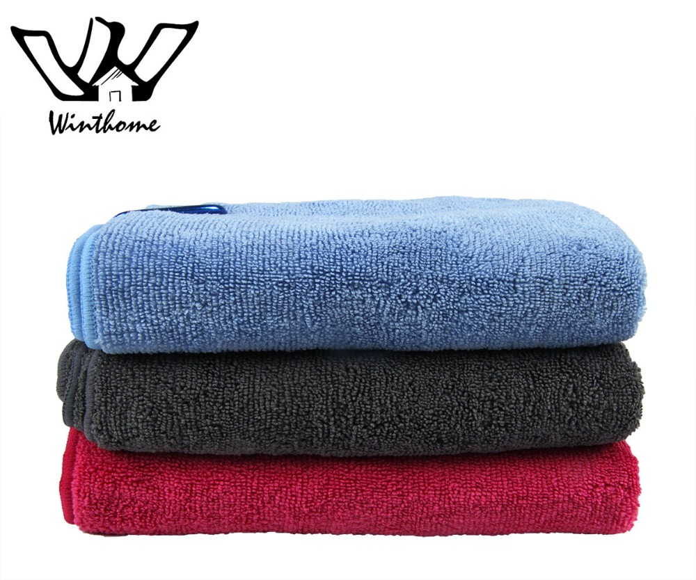 2 pcs Sport Hand Towel Microfiber Weave 40*64cm Golf Towels Bag Hook Quick Dry Towels Comfortable and Soft for Adults(China (Mainland))