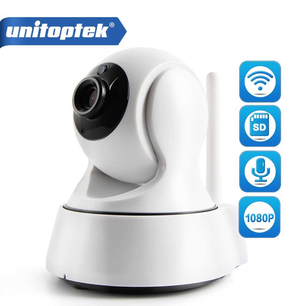 UNITOPTEK MINI Wireless WIFI IP Camera Wi-FI 1080P Night Vision HD 2MP Smart Camera Two Way Audio Home CCTV Surveillance Camera<br>