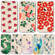TPU Phone Cover Cases For Apple iPhone 4 4S 5 5S SE 5C 6 6S 6Plus 6S + Case Wholesale Price Popular Painted Flower Animal Deer