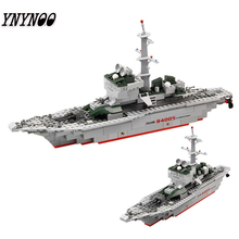 YNYNOO KAZI 228pcs 84005 Military Ship Model Building Blocks Kids Toys Imitation Gun Weapon Equipment Technic Designer toys(China)
