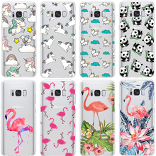 Flamingo Case For iPhone X 8 7 5S 5C SE 6 6S Plus for Samsung Galaxy Grand Prime J3 J5 J7 A3 A5 2016 2017 S5 S6 S7 Edge S8 Plus(China)
