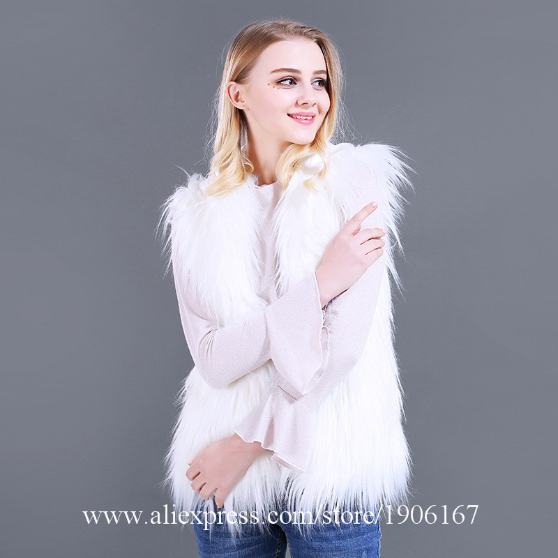 LED Vest Glowing Hooded Fur Vest Night Club Dance Performance Glowing Clothes Music Festival Clothing2