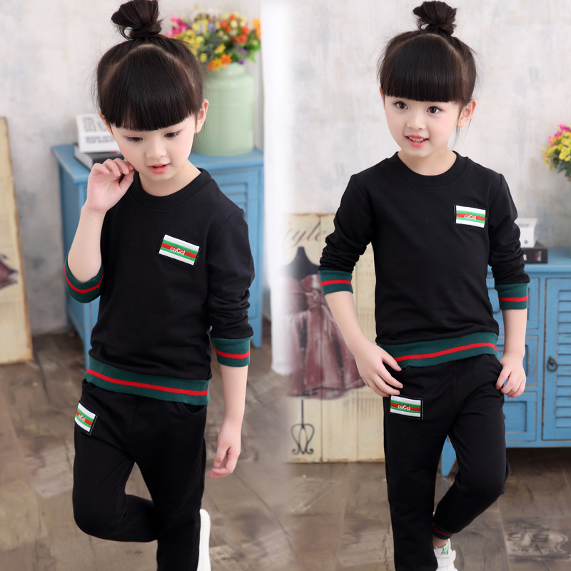 Girls Sports Suits 2 12 Years Casual Children Clothing Sets For Girl Cotton Tops &amp; Pants Autumn Tracksuit Kids Clothes For Girl<br><br>Aliexpress