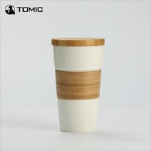 High Quality Ceramic Instant Coffee Mug  Outdoor Sport Non Slip Burn Proof Insulation 450ML Capacity for Milk Tea Coffee
