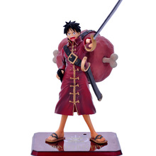 Free Shipping new style  13cm Genuine Original edition BANDAI Tamashii One Piece Red Luffy action figures