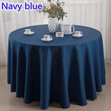 Navy blue colour wedding table cover table cloth polyester table linen hotel banquet party round tables decoration wholesale(China)