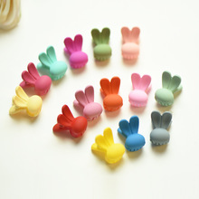 New Baby Girls Small Hair Claw Cute Candy Color Mickey Hair Jaw Clip Children Rabbit ear Hairpin Hair Accessories