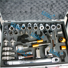 ERIKC common rail injector dismantling repair tools and diesel injector removal tool total 40 pieces