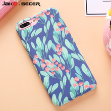 Flower Back Cover Coque Fundas Capa For iphone 7 7plus 6 6s plus Unique Cell Phone Cases Girly Plastic Hard Colorful Anti-knock