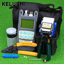 Buy KELUSHI 9pcs/set FTTH Tool Kit FC-6S Fiber Cleaver Optical Power Meter 10mW Fiber Optic Stripper Tools for $48.49 in AliExpress store